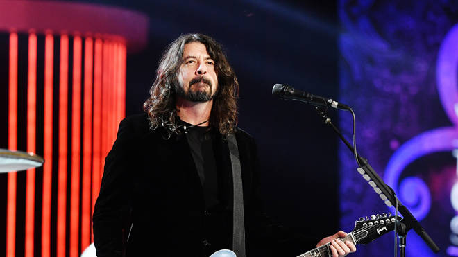 "Foo Fighter frontman Dave Grohl at the 62nd Annual GRAMMY Awards&squot;  ""Let&squot;s Go Crazy"" The GRAMMY Salute To Prince"