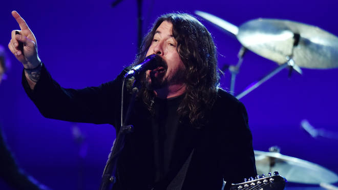 "Foo Fighters&squot; Dave Grohl at the 62nd Annual GRAMMY Awards&squot;  ""Let&squot;s Go Crazy"" The GRAMMY Salute To Prince"