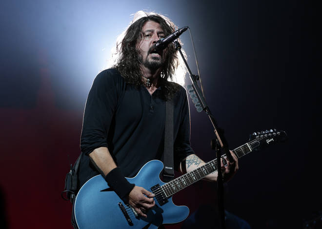 Dave Grohl performing with Foo Fighters at Glastonbury in 2017