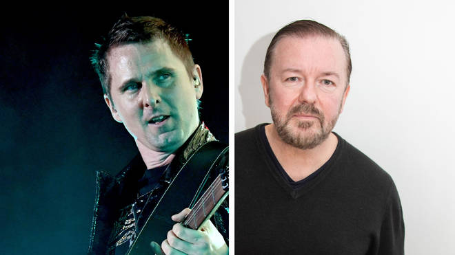 Muse's Matt Bellamy and Ricky Gervais