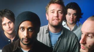 Elbow in 2001:  Mark Potter, Pete Turner, Guy Gravey, Crag Potter, Richard Jupp