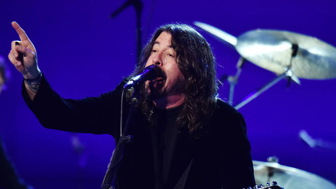 "Foo Fighters&squot; Dave Grohl performs at the 62nd Annual GRAMMY Awards  ""Let&squot;s Go Crazy"" The GRAMMY Salute To Prince"