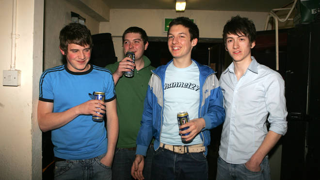 Arctic Monkeys after a show in Sheffield in 2005
