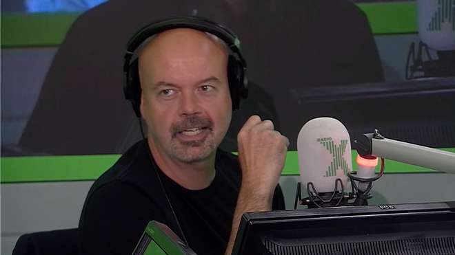 James unearths video of Dom slobbering live on-air