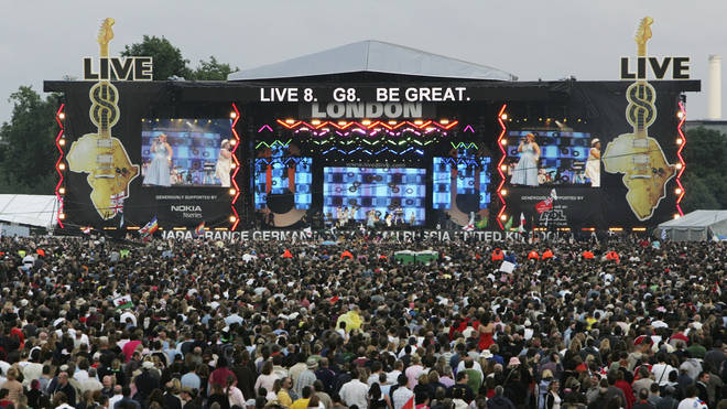 Live 8 at Hyde Park in London on 2 July 2005