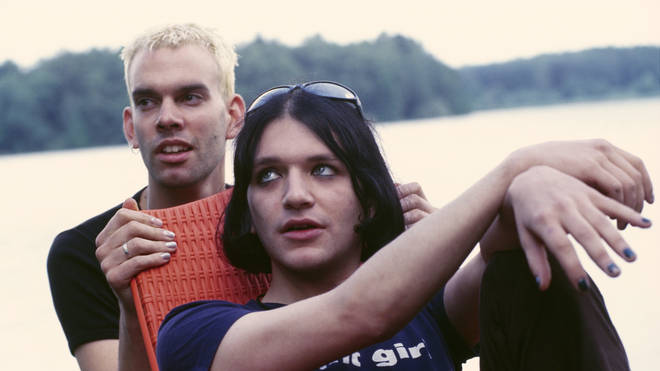 Placebo's Stefan Osdal and Brain Molko in 1997