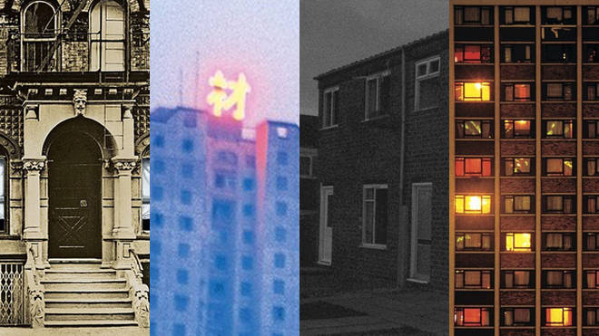 Mystery album cover houses