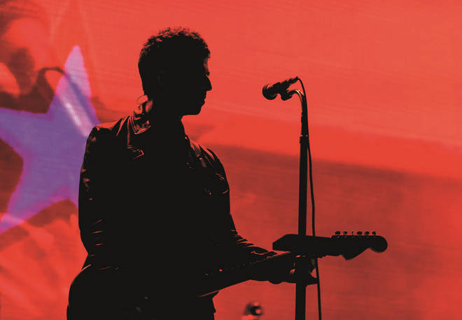 Noel Gallagher live on stage in LA, 2019