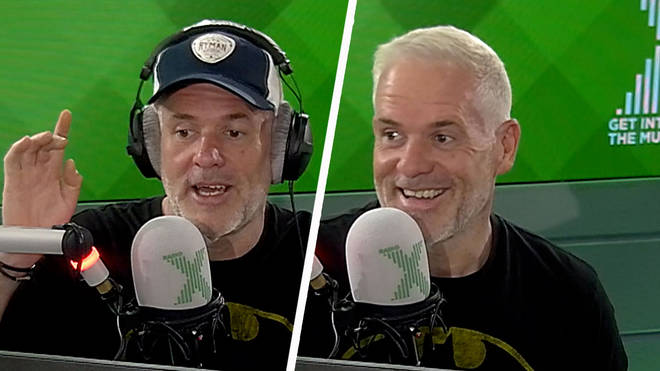 Chris Moyles reveals shocking blonde hair do