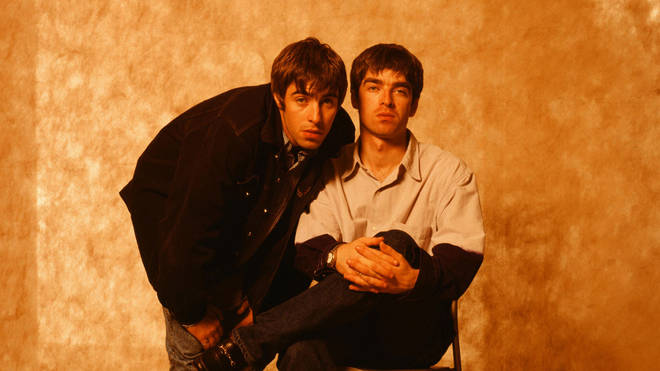 Liam Gallagher and Noel Gallagher in Tokyo in 1994
