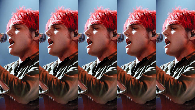 Gerard Way of My Chemical Romance performing live in 2011