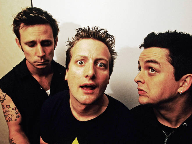 Green Day in 2001: Mike Dirnt, Tre Cool and Billie Joe Amstrong