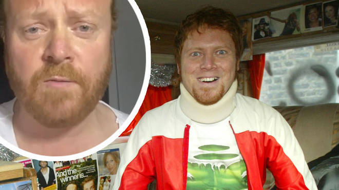 Leigh Francis inset with a picture of his Bo' Selecta character Avid Merrion