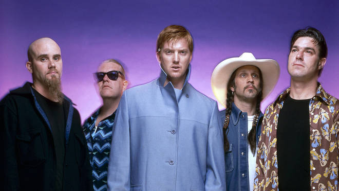 Queens Of The Stone Age in 2000: Nick Oliveri, David Catching, Josh Homme, Hutch, Gene Trautmann