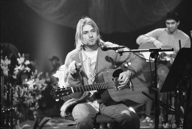 Kurt Cobain On MTV Unplugged in November 1993