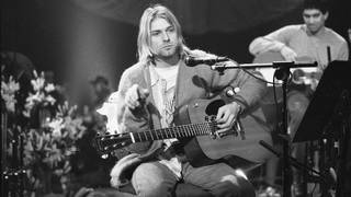 Kurt Cobain On MTV Unplugged in November 1993