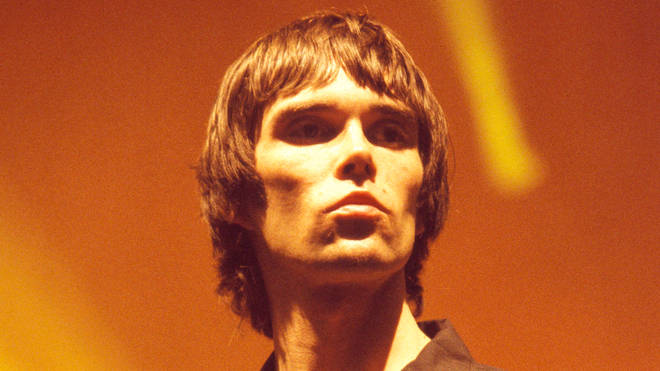Ian Brown performing with The Stone Roses at Wembley Arena in December 1995