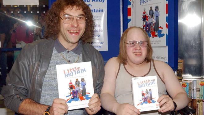 David Wallias and Matt Lucas launch the first Litttle Britain DVD in character in 2004