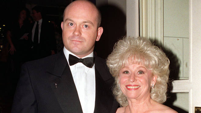 Ross Kemp and Barbara Windsor, who played Grant and Peggy Mitchell in Eastenders, in 1997