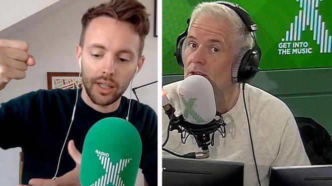 James describes a huge growler on The Chris Moyles Show