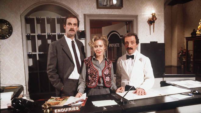 John Cleese, Connie Booth and Andrew Sachs in Fawlty Towers