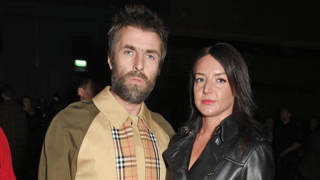Liam Gallagher and Debbie Gwyther at the Burberry February 2018 Show