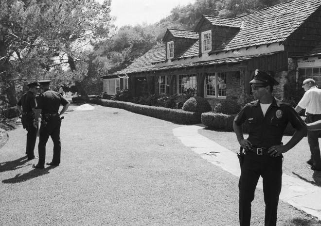 The rented house where Sharon Tate and her friends were found dead on 9 August 1969