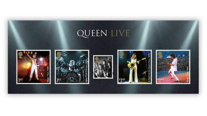 The Queen stamp collection also features these classic live shots