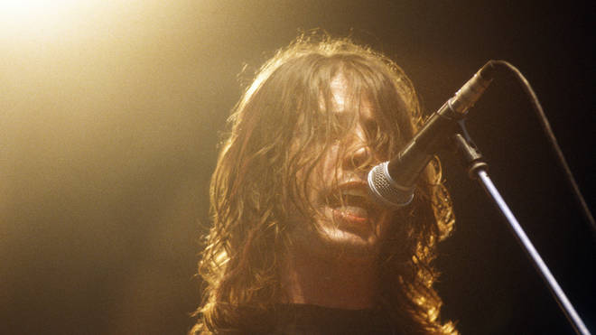 Dave Grohl performing with Foo Fighters at Pukkelpop Festival in Belgium, 1995