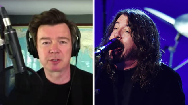 Rick Astley and Foo Fighters' Dave Grohl