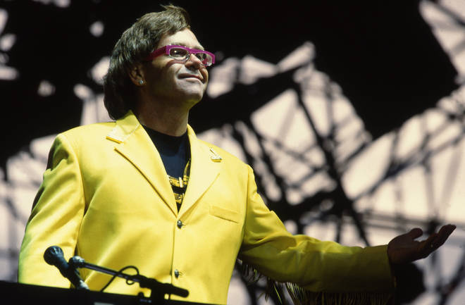 Elton John performs in 1992