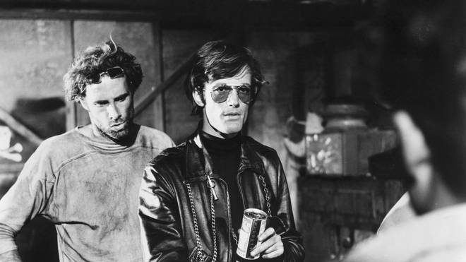 Bruce Dern and Peter Fonda in The Wild Angels (1966)