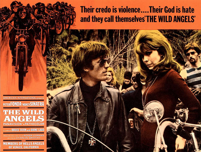 The Wild Angels poster featuring Peter Fonda and Nancy Sinatra