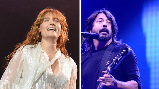 Florence Welch at Glastonbury Festival 2015 and Dave Grohl at hurricane Festival 2019