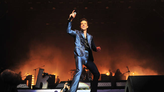 randon Flowers of The Killers performs live on the Pyramid stage during day four of Glastonbury Festival 2019