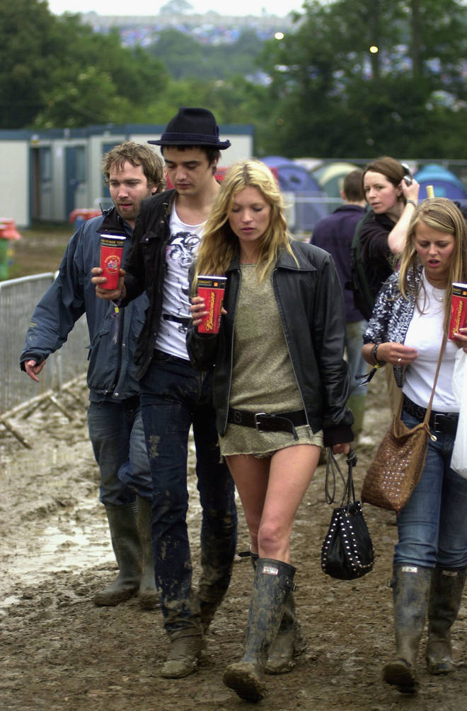 The Libertines man and the supermodel were seen together at Glasto 2005. They're both frequent visitos to Worthy Farm
