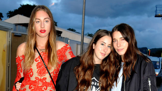 Este, Alana and Danielle pictured as the sun goes down in 2014