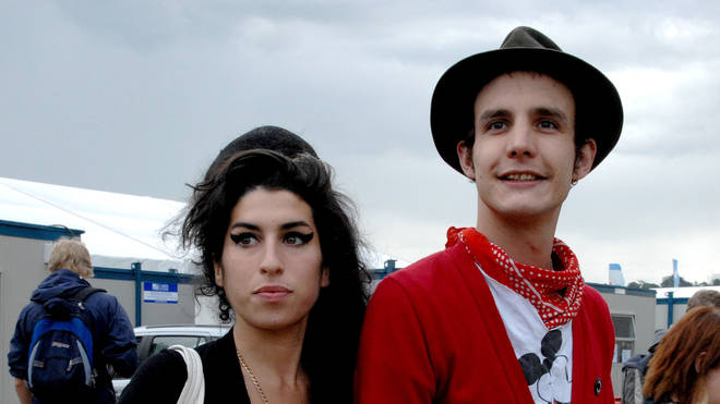 Amy Winehouse and Blake Fielder-Civil at Glastonbury in 2007
