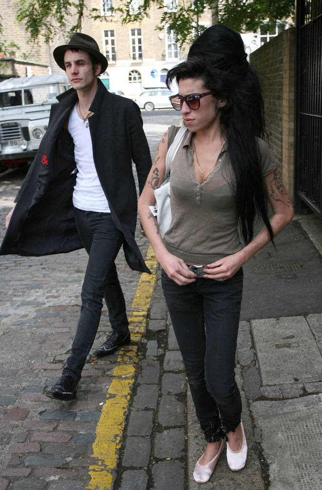 Amy Winehouse and Blake Fielder-Civil leaving their Camden home on June 26, 2007