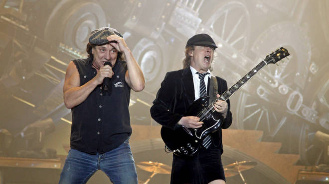 Brian Johnson and Angus Young reach the midway point of AC/DC's Black Ice Tour at Leipzig, Germany on 5 March 2009