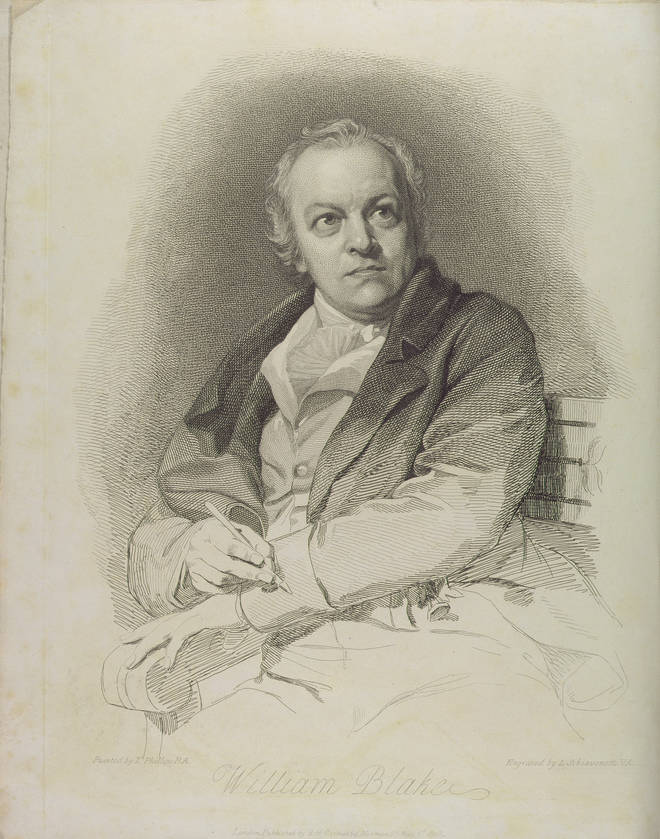 A portrait of William Blake, frontispiece from The Grave A Poem by William Blake, 1808
