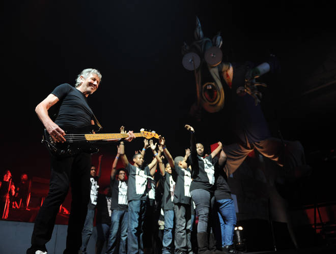 Roger Waters, still alienated after all these years, performing The Wall at Nassau Veterans Memorial Coliseum, New York on October 12, 2010