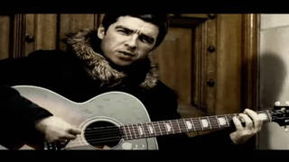 Noel Gallagher in the video for Little By Little by Oasis