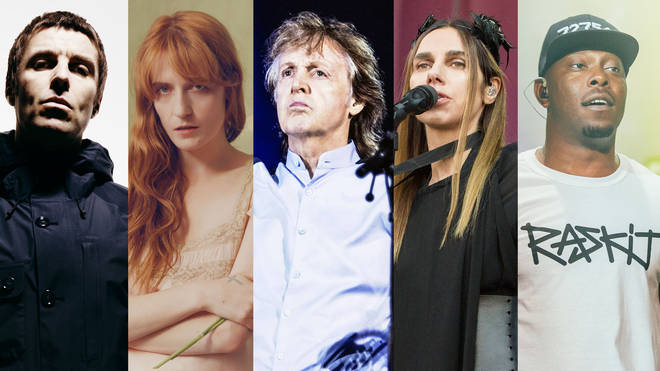 Liam Gallagher, Florence Welch, Sir Paul McCartney, PJ Harvey and Dizzee Rascal