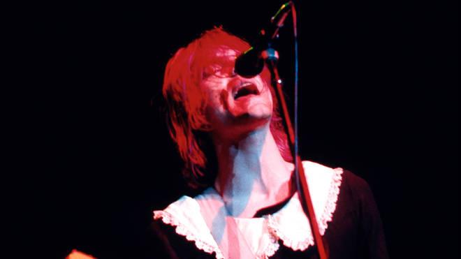 Nirvana's late frontman Kurt Cobain performs in a dress in 1991
