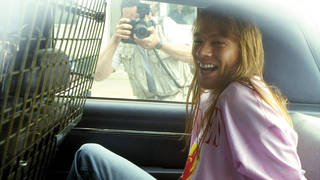 The police finally catch up with Axl Rose over the St Louis riot - one year after it took place