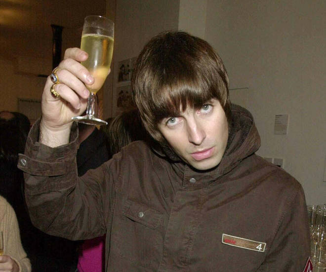 Liam Gallagher, enjoying a drink in 2001