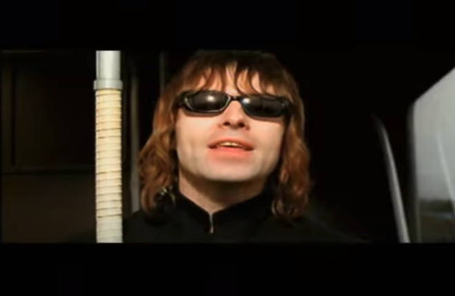 Liam Gallagher in Oasis's Go Let In Out video