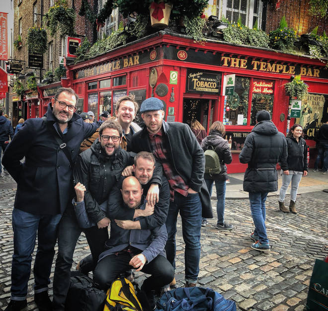 The Radio X Team on the lash in Dublin last year