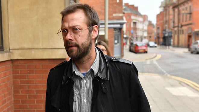 Tom Meighan appears at Leicester Magistrates' Court where he pled guilty to assault